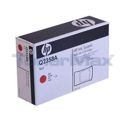 HP TIJ 2.5 NON-FLUORESCENT BULK INK CTG RED 350ML